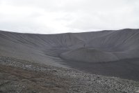 On the rim of Hverfjall
