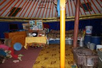 At home in the yurt
