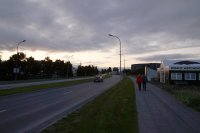 Akureyri in the evening